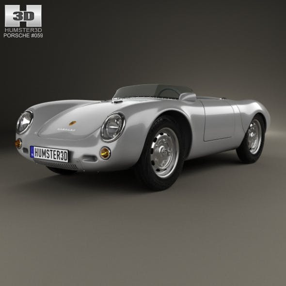 Porsche 550 spyder 1953 - 3DOcean Item for Sale