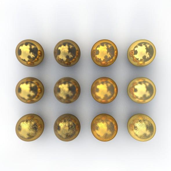 12 Gold Materials