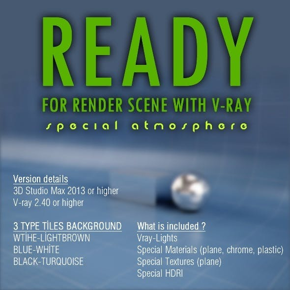 Ready for render scene - 3DOcean Item for Sale