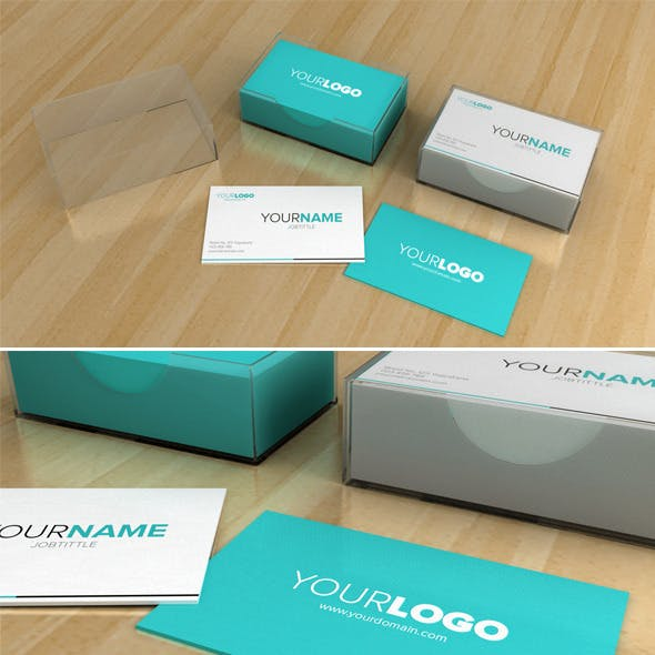 Business Card Box - 3DOcean Item for Sale