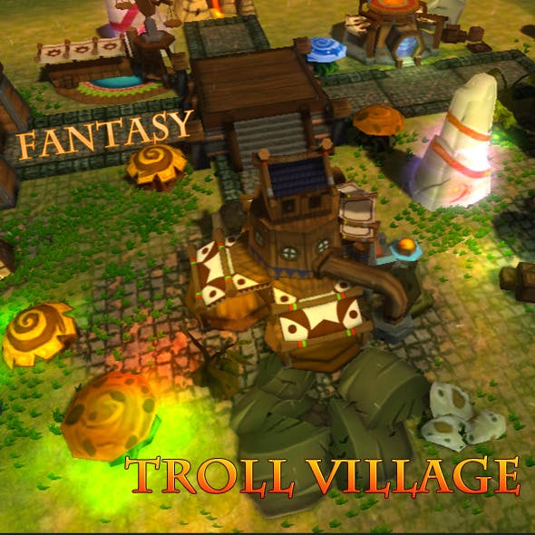 Fantasy Troll Village - 3DOcean Item for Sale