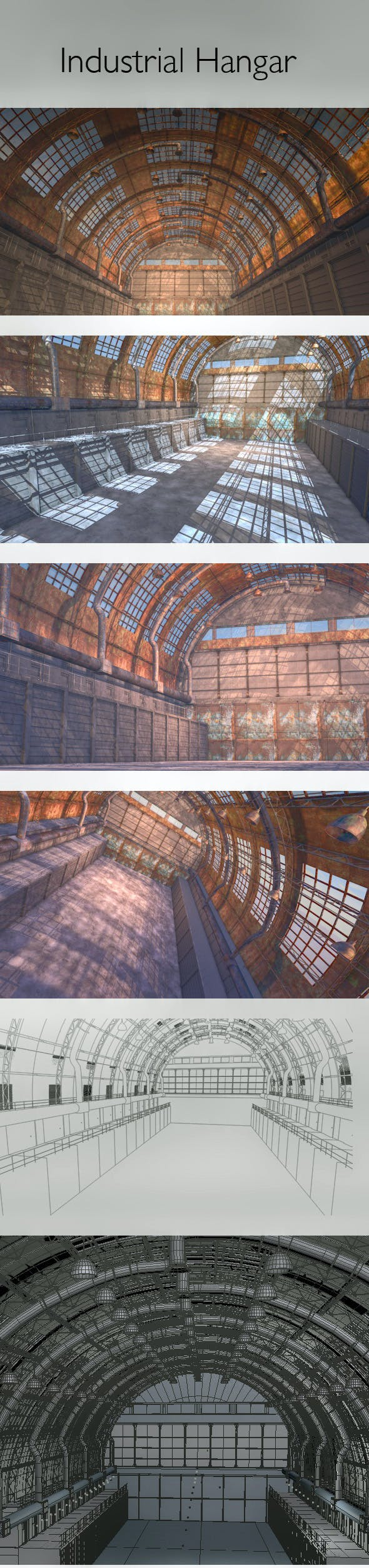 Industrial Hangar - 3DOcean Item for Sale