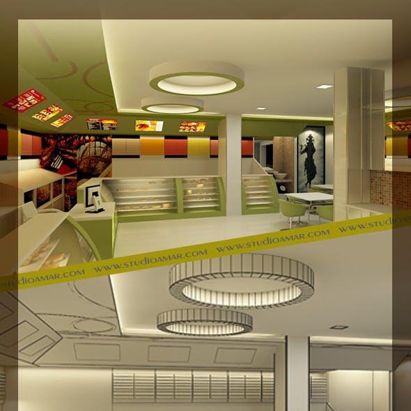 Realistic Bakery Shop Interior 126