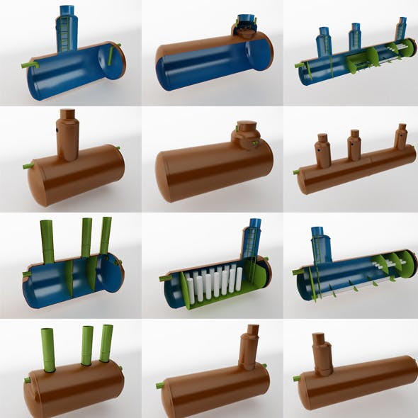 Water treatment plants - 3DOcean Item for Sale