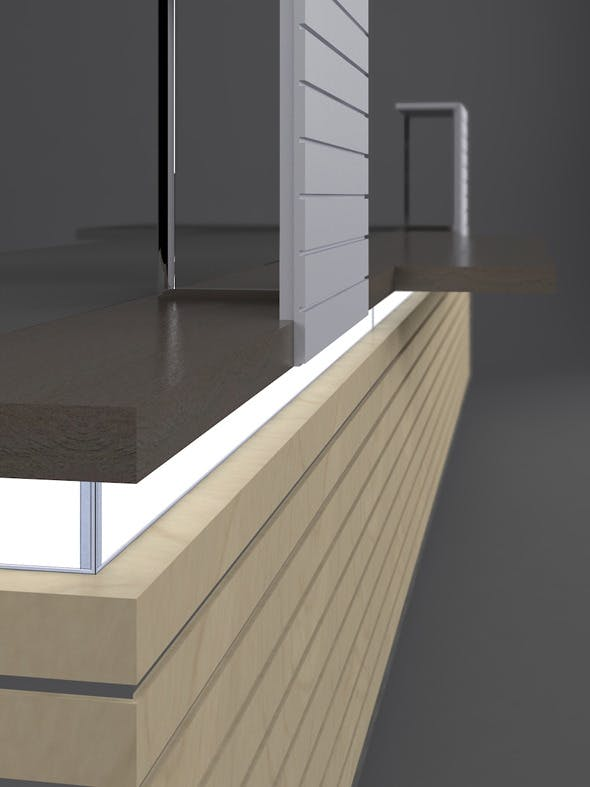 Horizon Reception Desk - 3DOcean Item for Sale