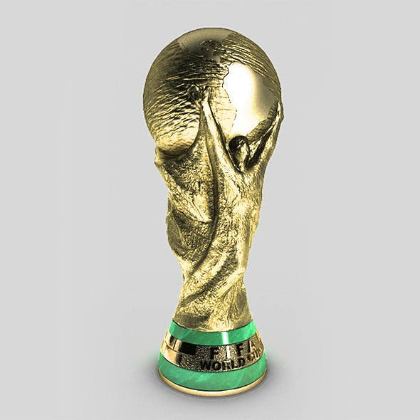 Fifa World Cup Trophy 3D Model CG Textures & 3D Model