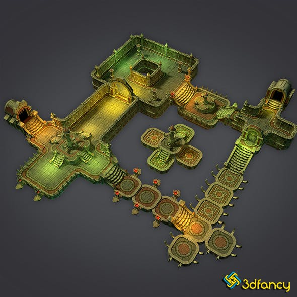 Low Poly Cloudy Dungeon Set