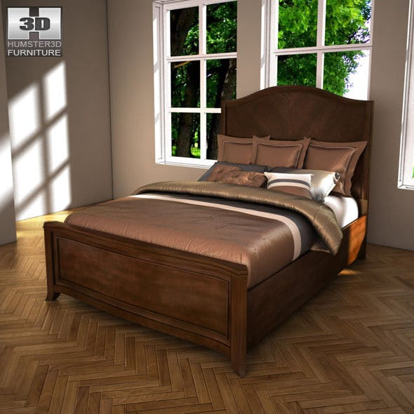 Ashley Ashlyn Queen Sleigh Bed - 3D Model.