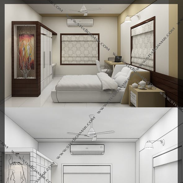 Realistic Bed Room 127