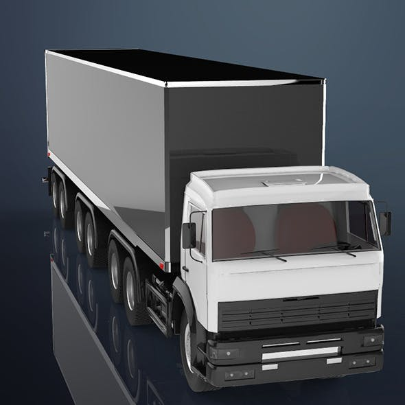 Semi Truck - 3DOcean Item for Sale
