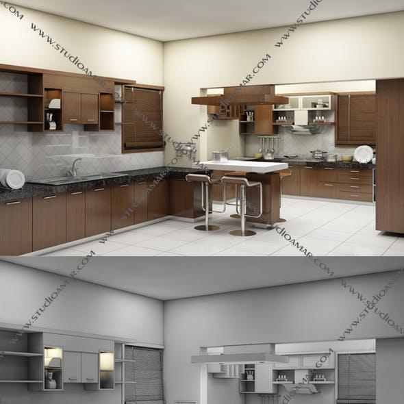 Realistic Kitchen interior 128