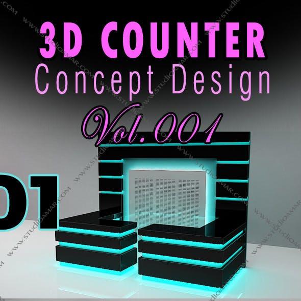 3D Counter Concept Design 129 Vol.1