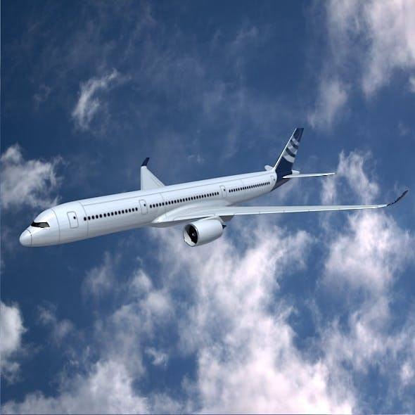 Airbus A350-900 commercial aircraft - 3DOcean Item for Sale