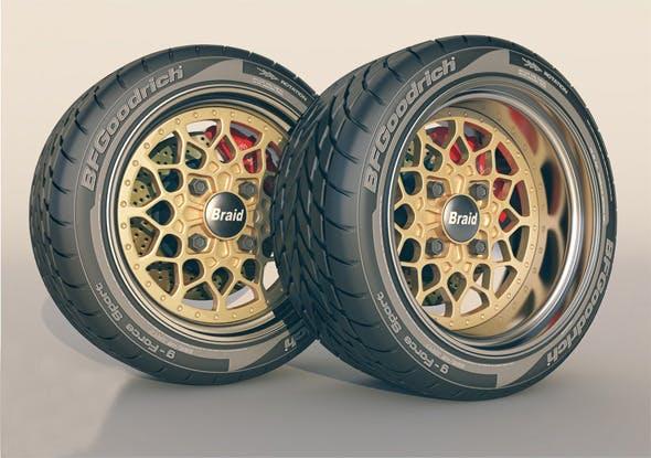 Braid 4 RC wheel + tyre  - 3DOcean Item for Sale