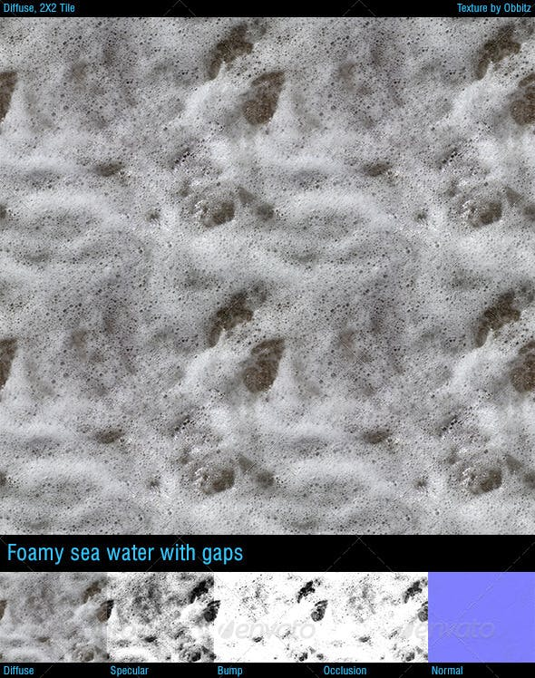 Foamy seawater with gaps - 3DOcean Item for Sale