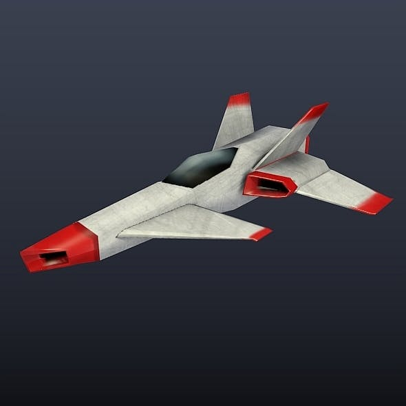 Simple lowpoly spaceship
