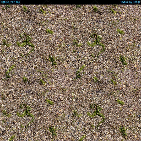 Sand with algae