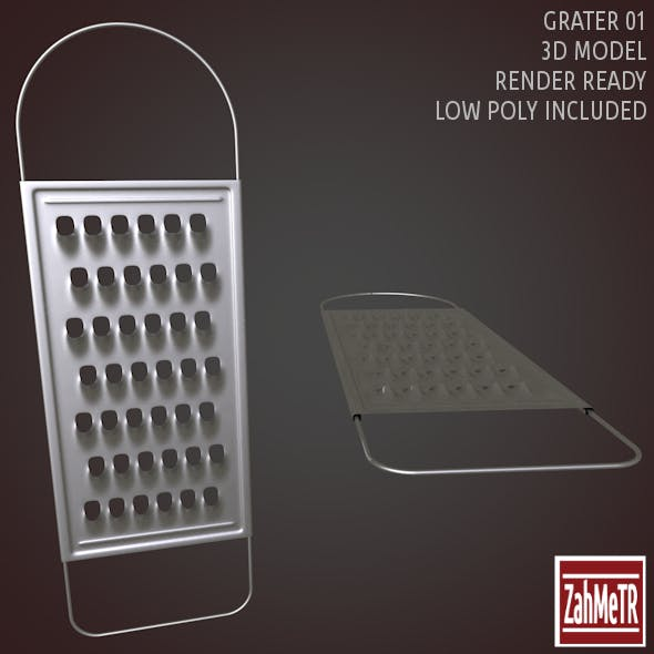 Grater 01 Low - High Poly 3D Model