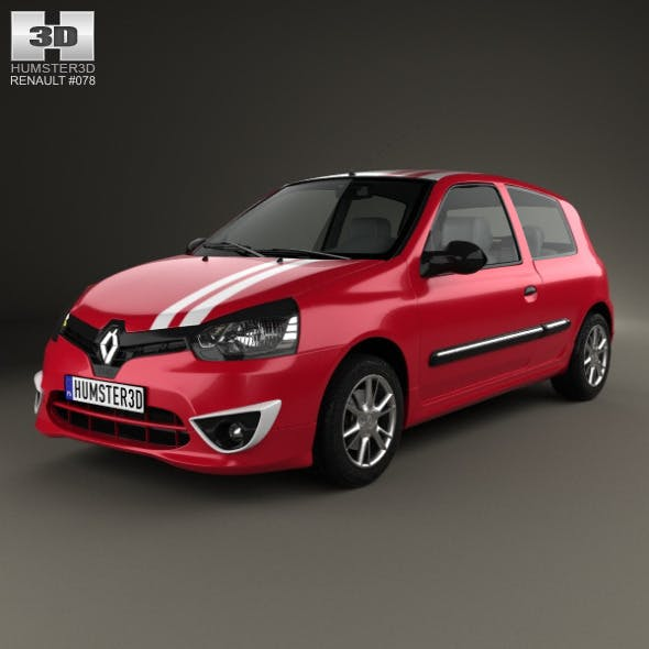 Renault Clio Mercosur Sport 3-door hatchback 2013 - 3DOcean Item for Sale