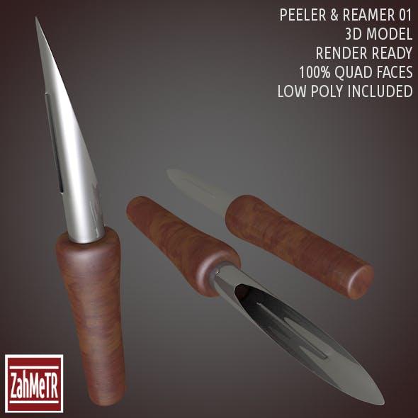 Peeler Reamer 3D Model Low - High Poly