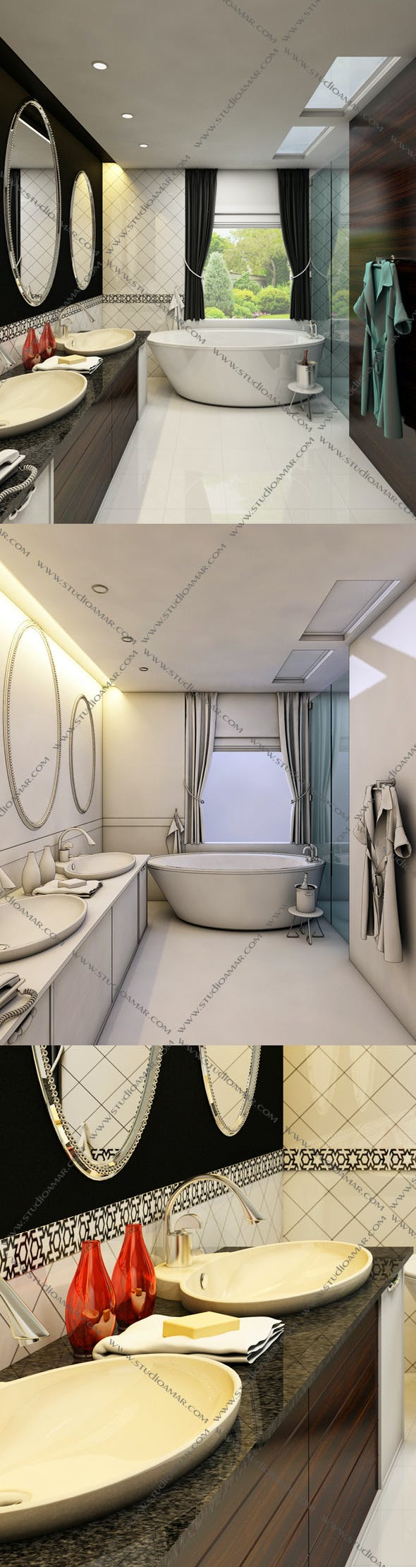 Realistic Bathroom 131 - 3DOcean Item for Sale