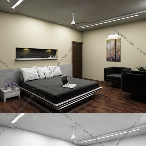 Realistic Bed Room 132