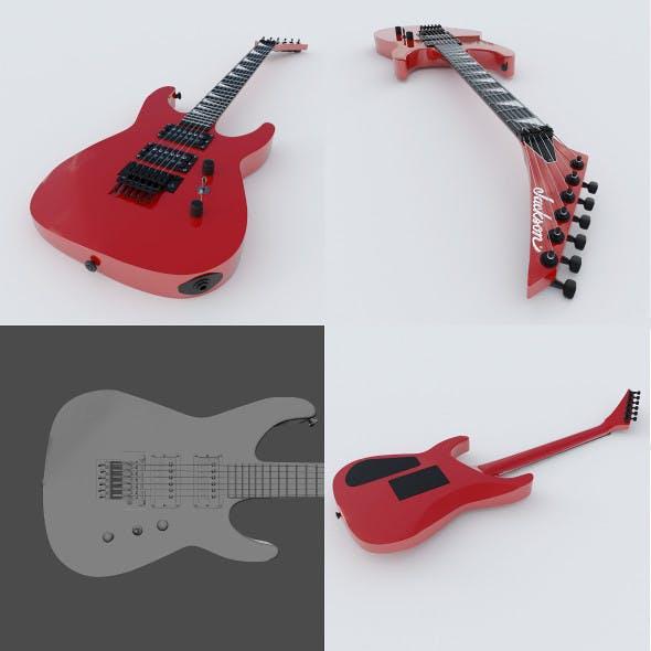 Electric Guitar Jackson Soloist - 3DOcean Item for Sale