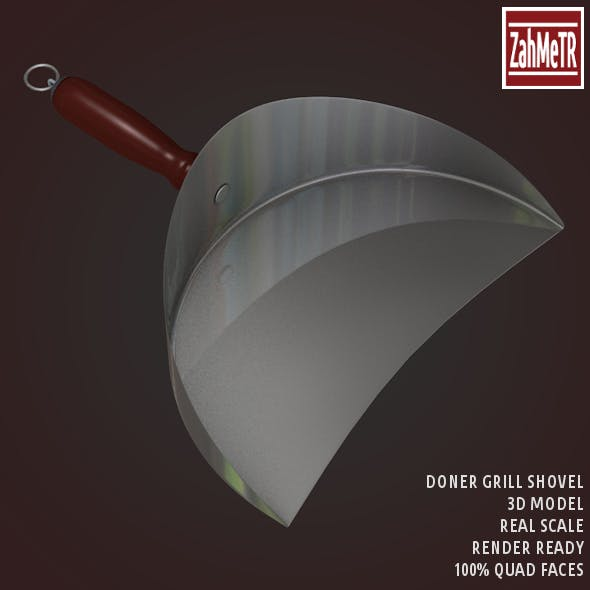 Doner Grill Shovel 3D Model