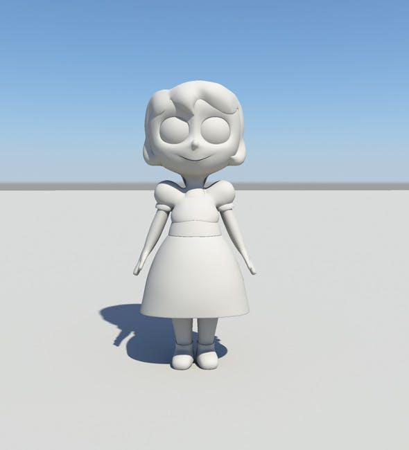 Cute Cartoon Girl - 3DOcean Item for Sale