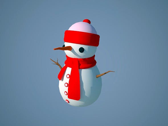 small snowman - 3DOcean Item for Sale