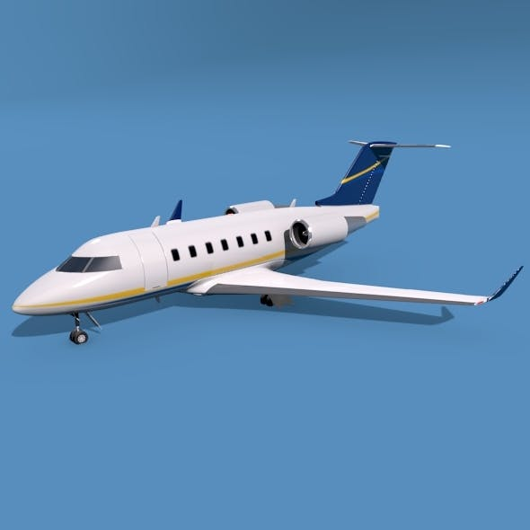 Bombardier Challenger 600 private jet - 3DOcean Item for Sale