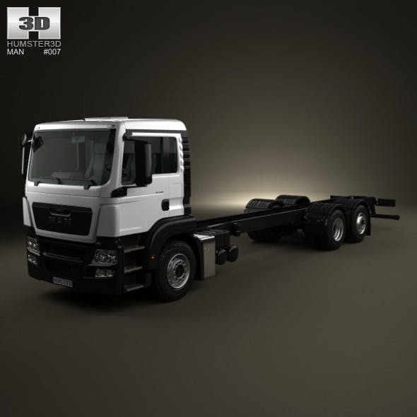 MAN TGS Chassis Truck 2012 - 3DOcean Item for Sale