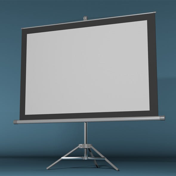 Projector Screen - 3DOcean Item for Sale