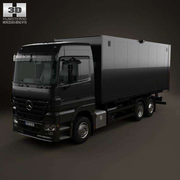 Mercedes-Benz Actros Box Truck 2002 - 3DOcean Item for Sale