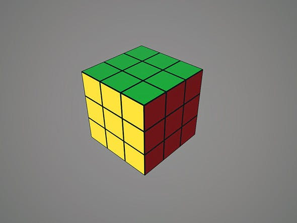 Rubiks Cube 3x3 - 3DOcean Item for Sale