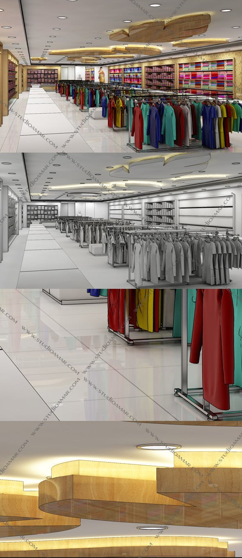 Realistic Textile Shop 133 - 3DOcean Item for Sale