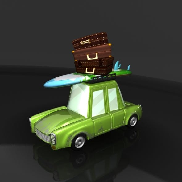 Travel Cartoon Car