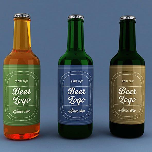 3 Color Beer Bottles