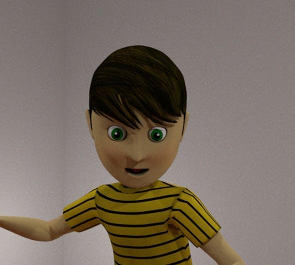 cartoon boy rigged - 3DOcean Item for Sale
