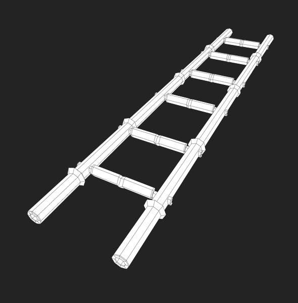 Low Poly Bamboo Ladder - 3DOcean Item for Sale