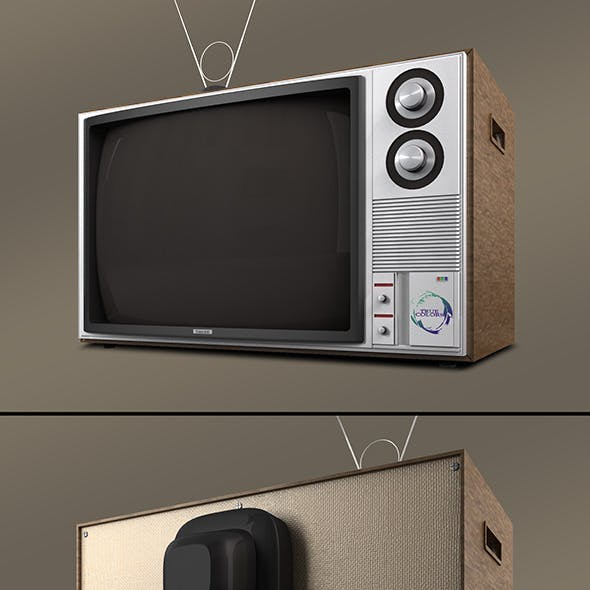 Retro Television Vray