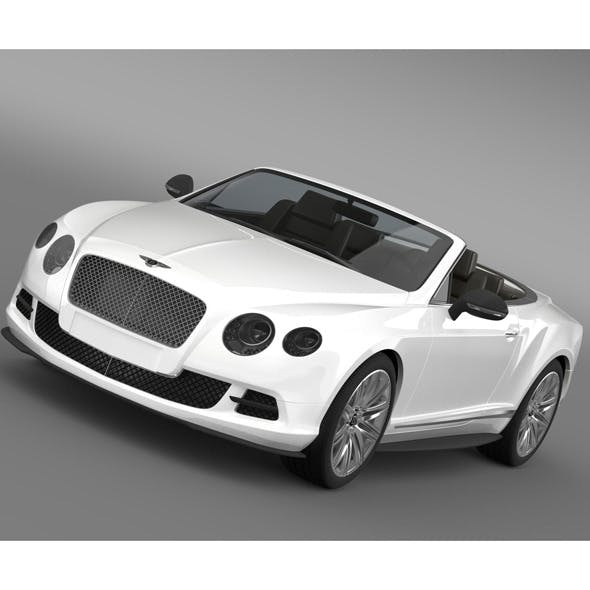 Bentley Continental GT Speed Convertible 2012 - 3DOcean Item for Sale
