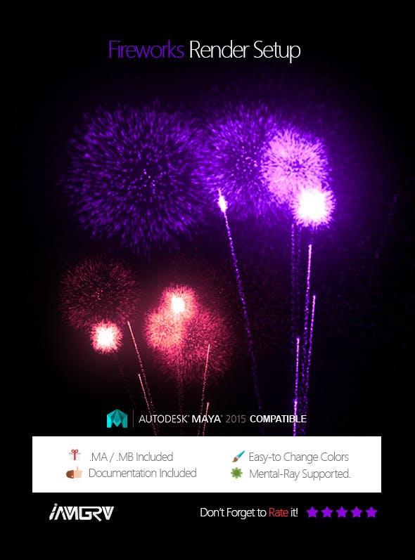Fireworks - Render Setup - 3DOcean Item for Sale