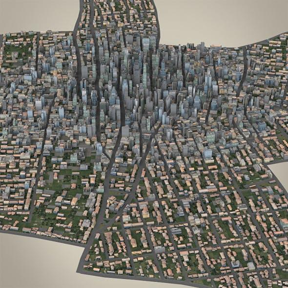 Metropolitan Cityscape - 3DOcean Item for Sale