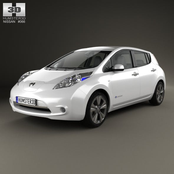 Nissan Leaf 2013 - 3DOcean Item for Sale