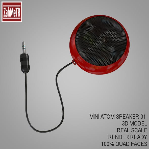Mini Portable Atom Speaker 3d Model