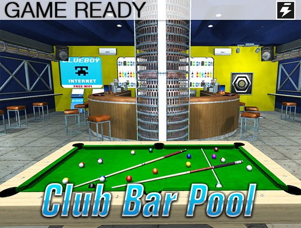 Game Ready Pool Bar - 3DOcean Item for Sale