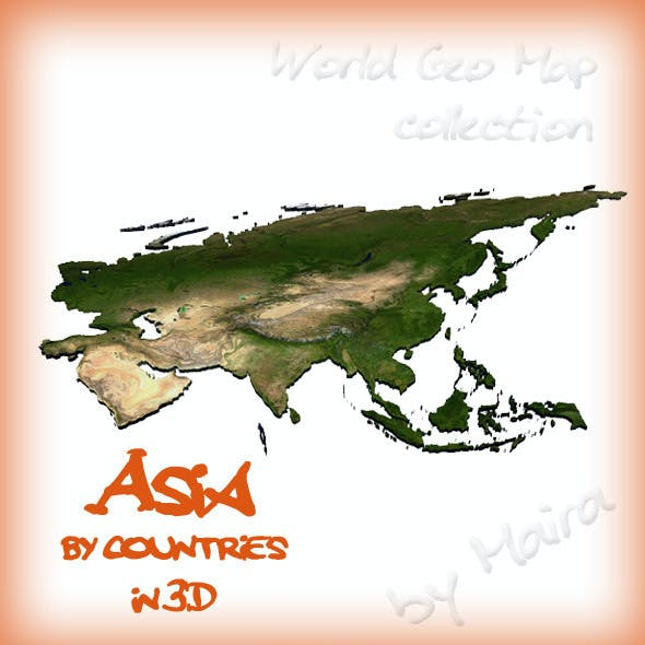 World Geo Map - Asia