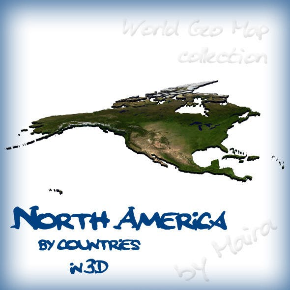 World Geo Map - North America