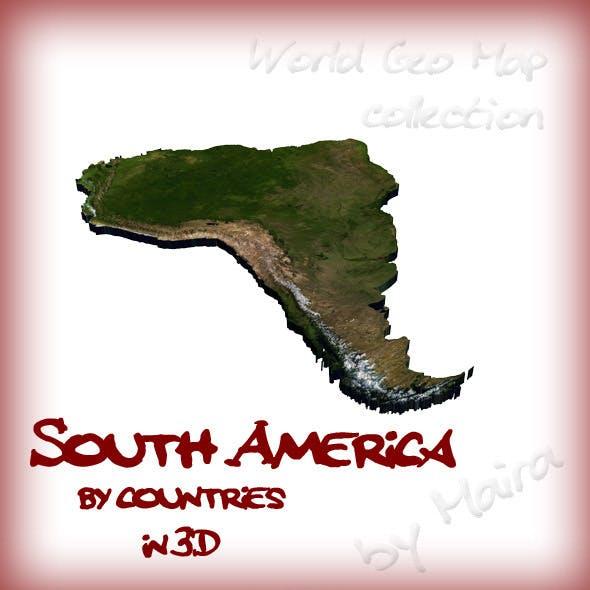 World Geo Map - South America